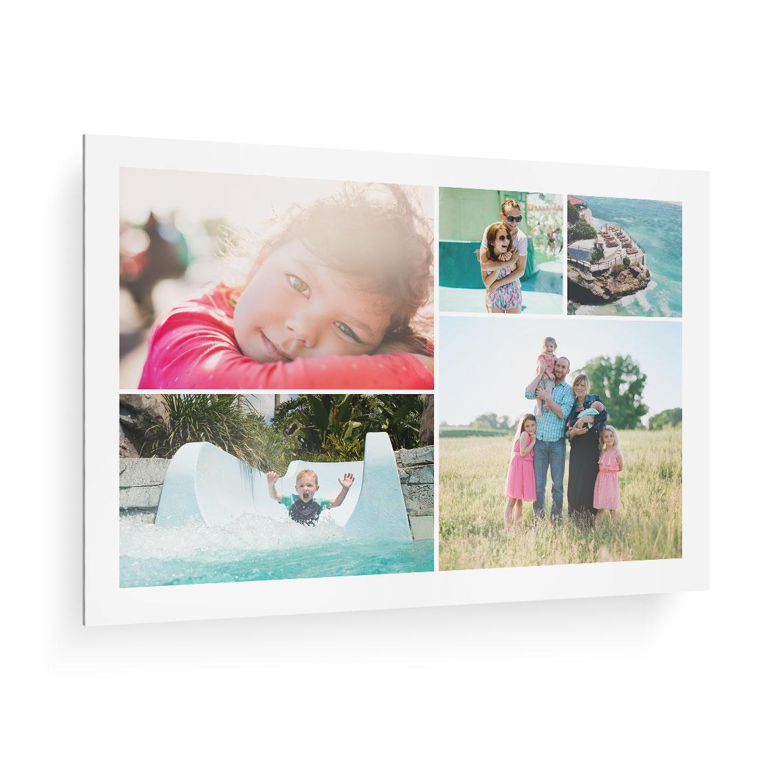 premium collage metal print 50x75cm 20x30 glass metal collage