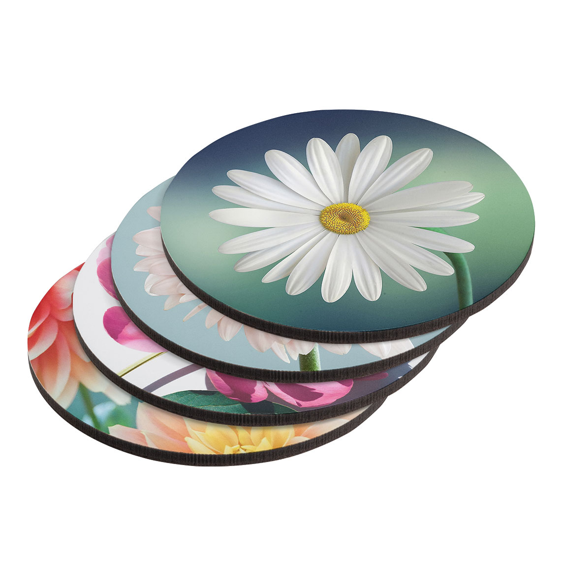 Round Coasters - Set of 4 (different images)