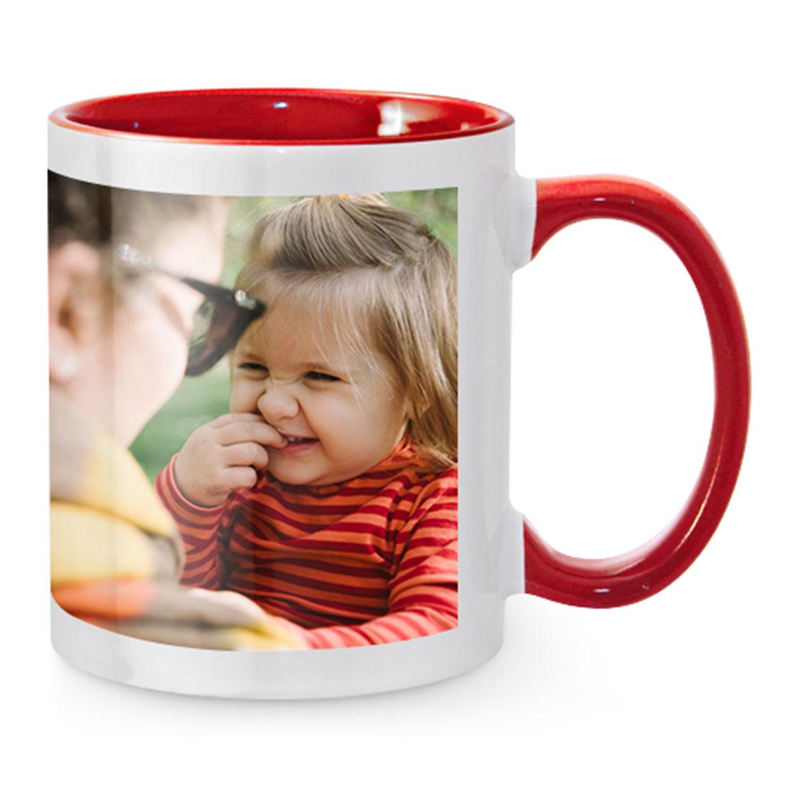 Red Colored Mug Full Image   Coloured Mugs   Mugs   Gifts   Snapfish NZ