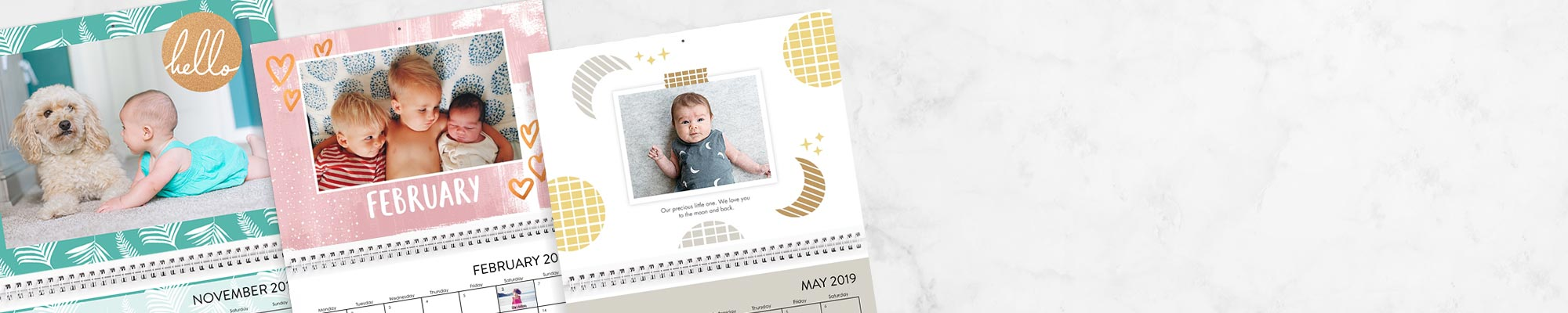 Photo Calendars Enjoy 365 days of your favorite photos personalised with new fonts, designs and backgrounds.