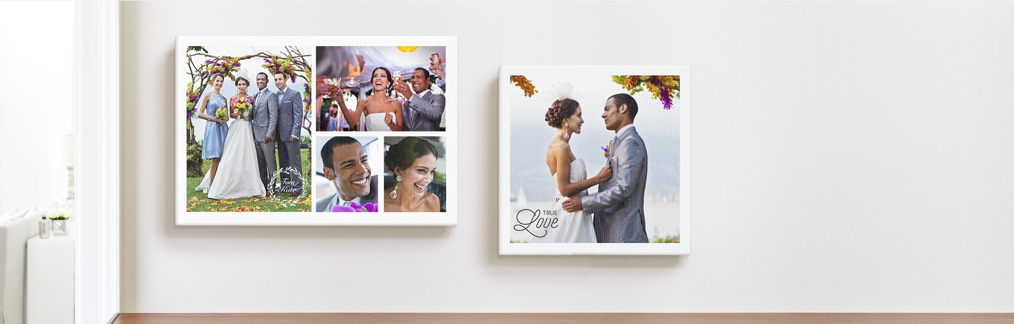 Make a lasting impression. Relive the good times ona ready-to-hang canvas.