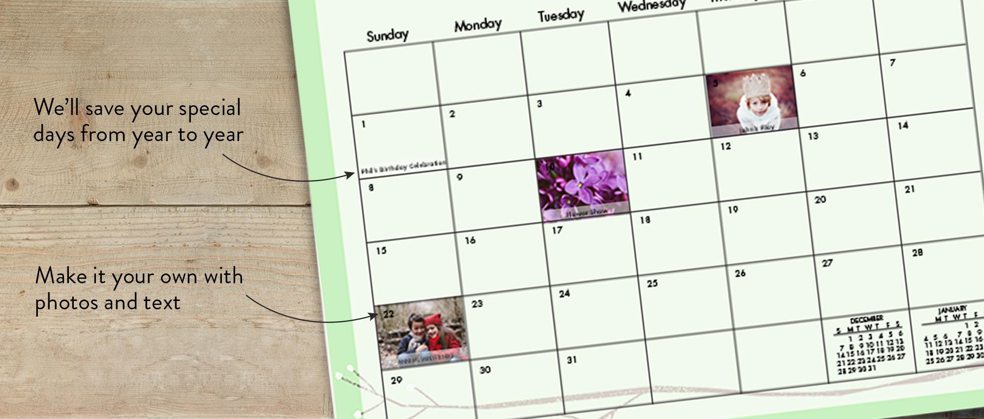 Photo Wall Calendars wall calendar, 12x12, 12 months   calendars   calendar   snapfish us