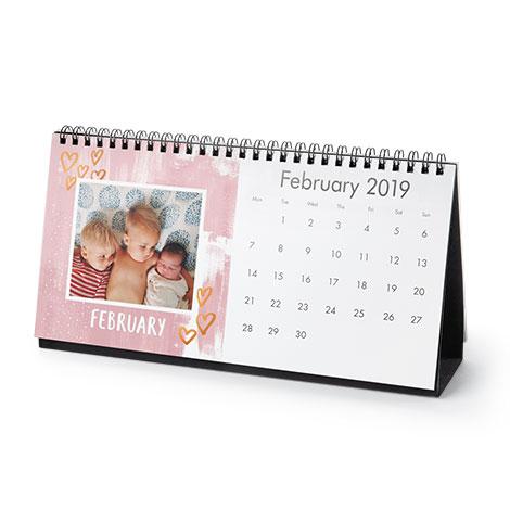 12.5x25cm Desktop Calendar