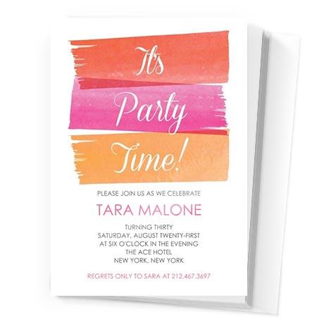 Painterly Party Invitation