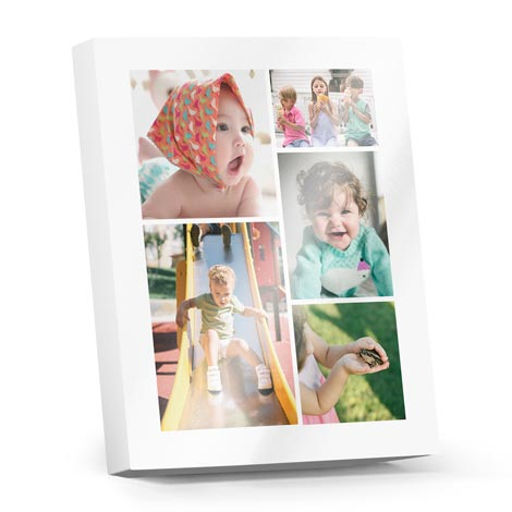 Premium Collage Photoblocks (metallic - black/white)