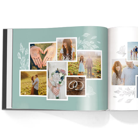 Photo book. Sketched botanicals theme