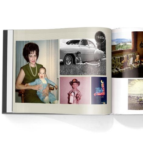 Photo book. Adult birthday theme
