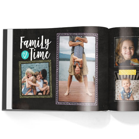 Photo book. Family chalkboard theme