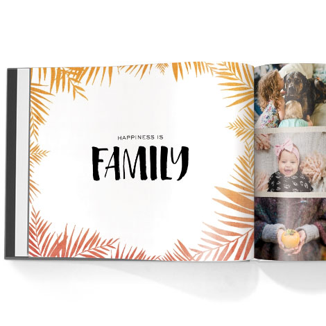 Photo book. Love lives here theme