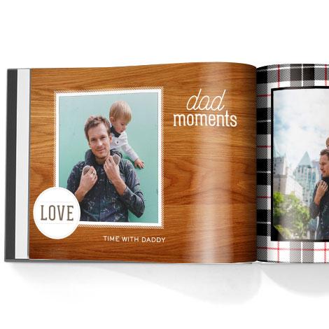 Photo book. Family man theme