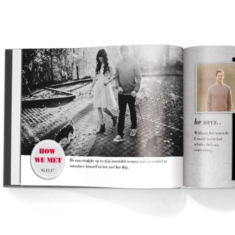 Photo book. Engagement theme