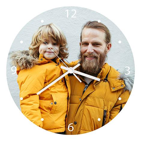 Icon Glass Wall Clock