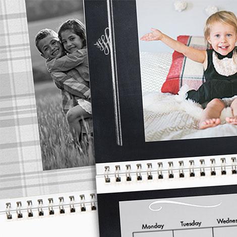 "Black & White - 8x11"" Calendars"