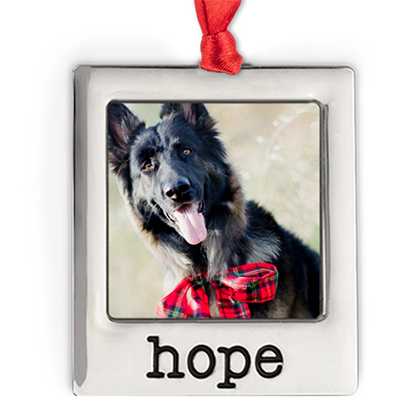 Silver Plate Hope Photo Ornament