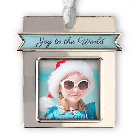 Joy to the World Photo Ornament