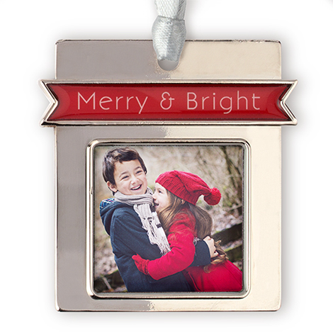 Merry Photo Ornament