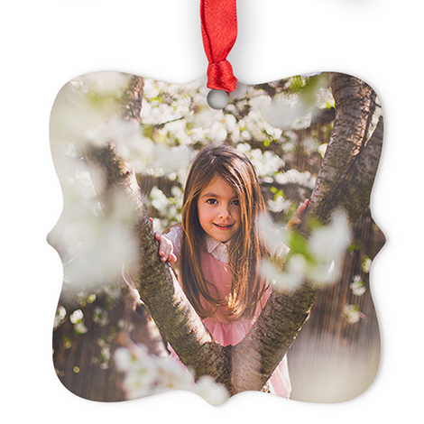 Aluminum Square Photo Ornament