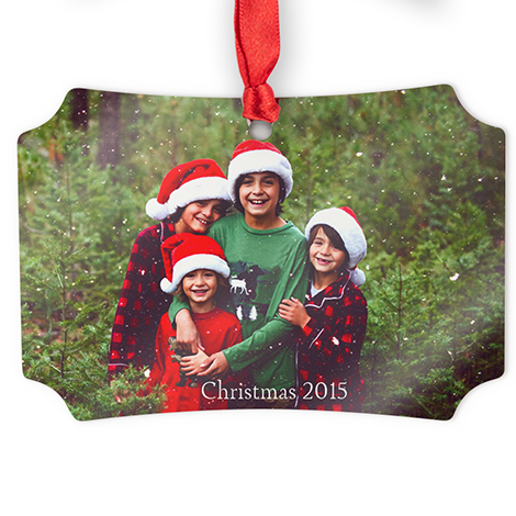 Aluminum Scalloped Photo Ornament