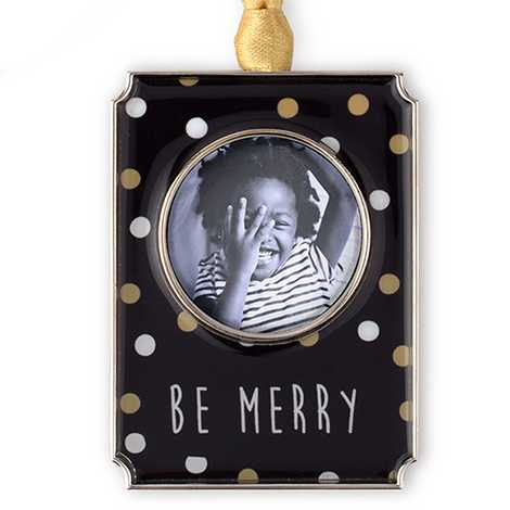 Be Merry Photo Ornament