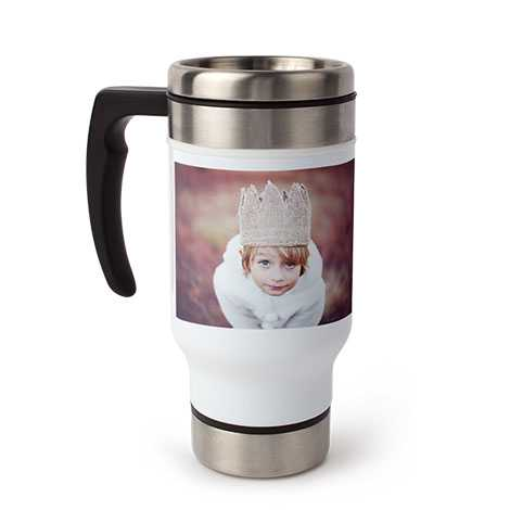 Travel Coffee Mug with Handle, 13oz.