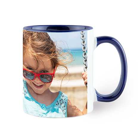 Photo Coffee Mug, 11oz., Navy