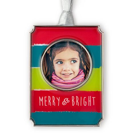 Merry & Bright Photo Ornament