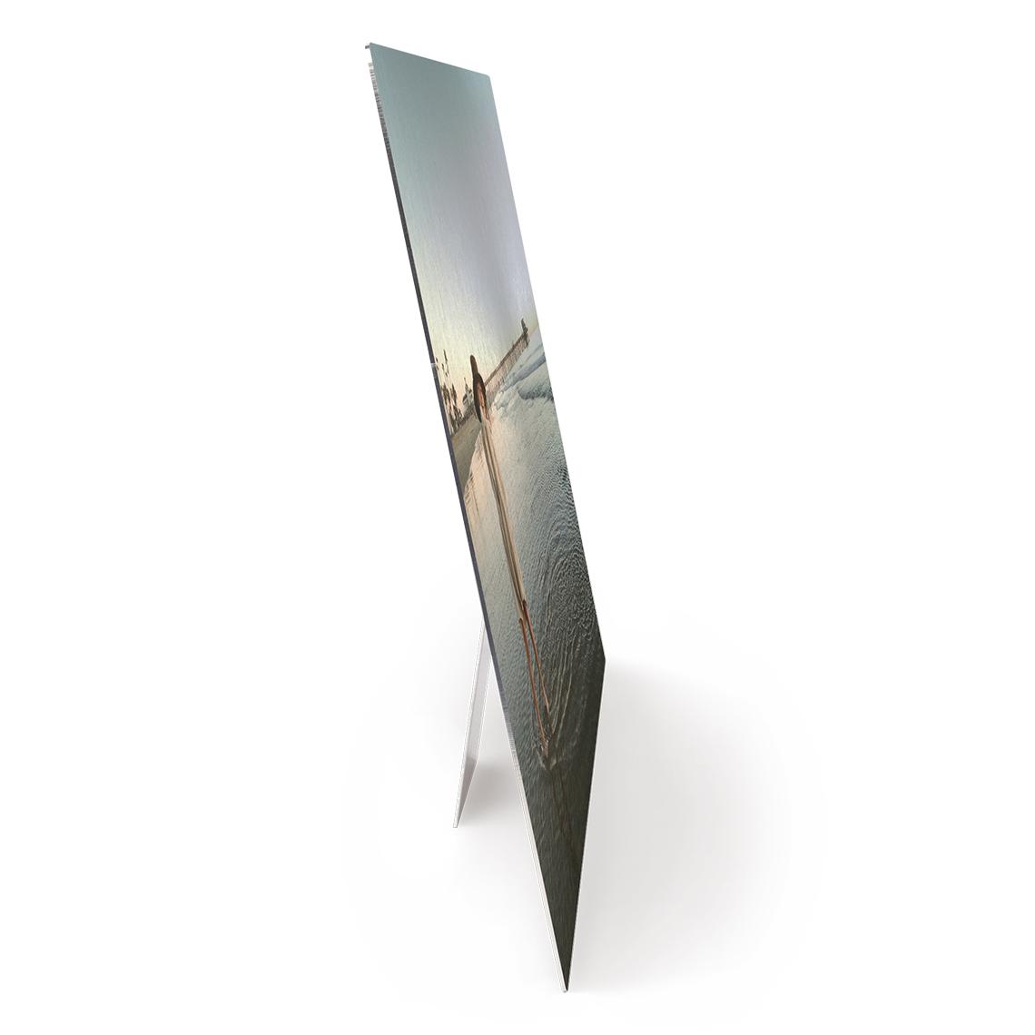 Metal photo panel tabletop