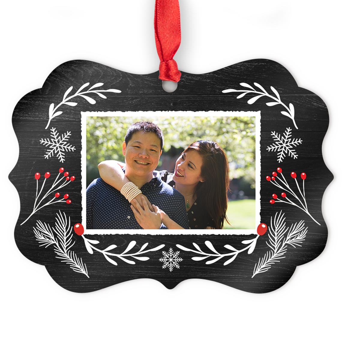 Aluminum Medallion Photo Ornament | Christmas Ornaments and Decor ...