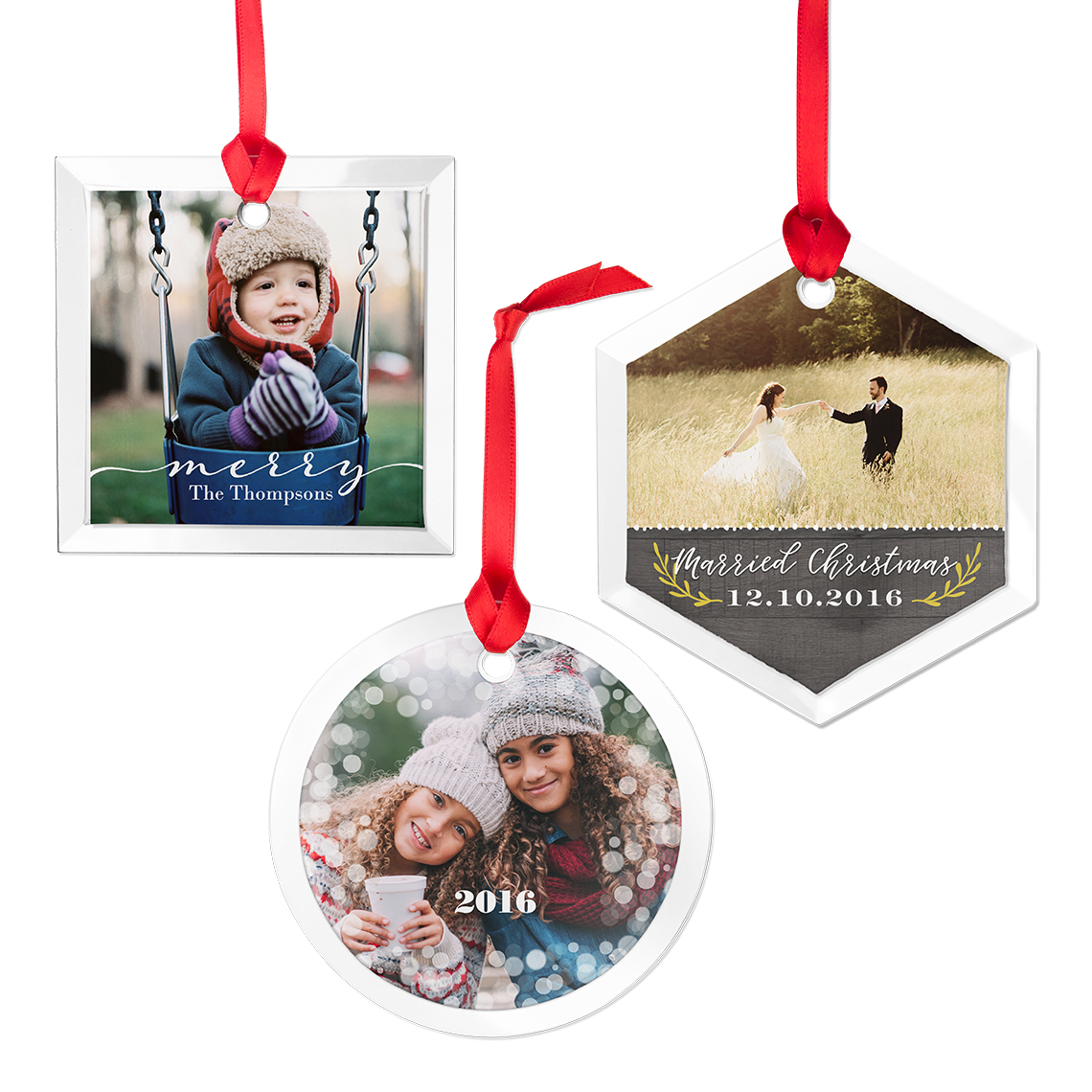 Glass Square Photo Ornament | Christmas Ornaments and Decor | Gifts ...