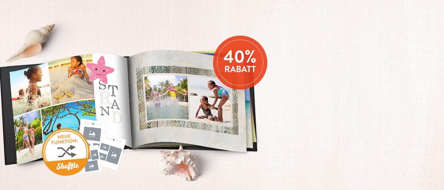Sonne, Strand, Meer : und viele Fotos - jetzt Fotobuch gestalten mit 40% Rabatt: Gutscheincode 40FTBU816