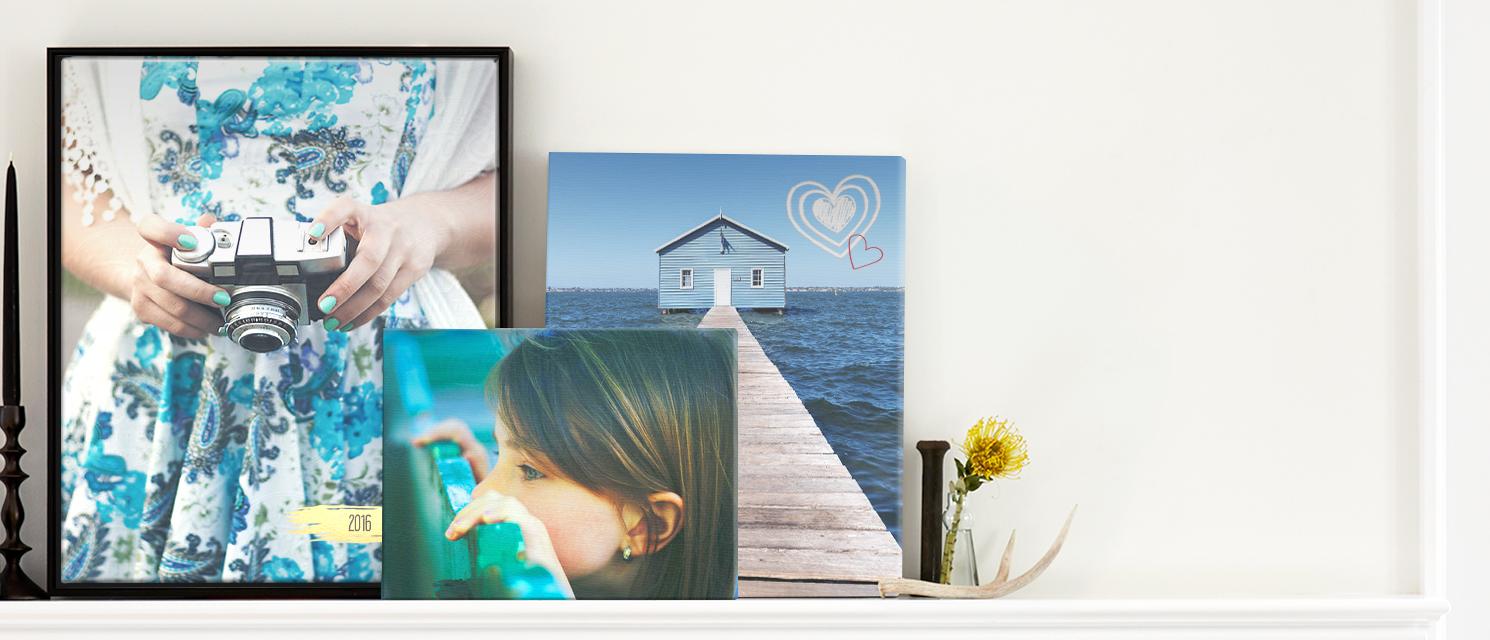 Echte Hingucker : Erstellen Sie Leinwände aus Ihren schönsten Fotos.