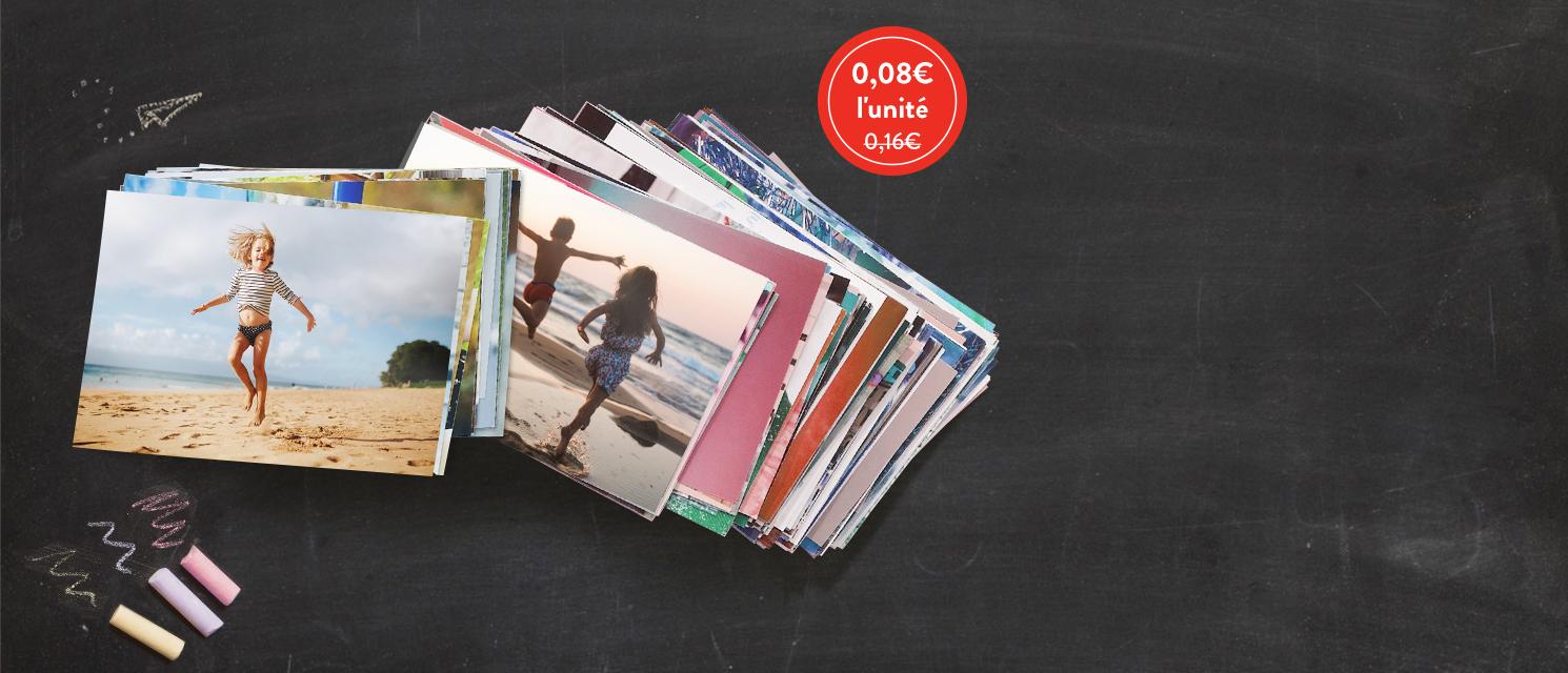 Imprimez vos souvenirs de vacances : 100 TIRAGES POUR 8€Code Promo : PRINTS816