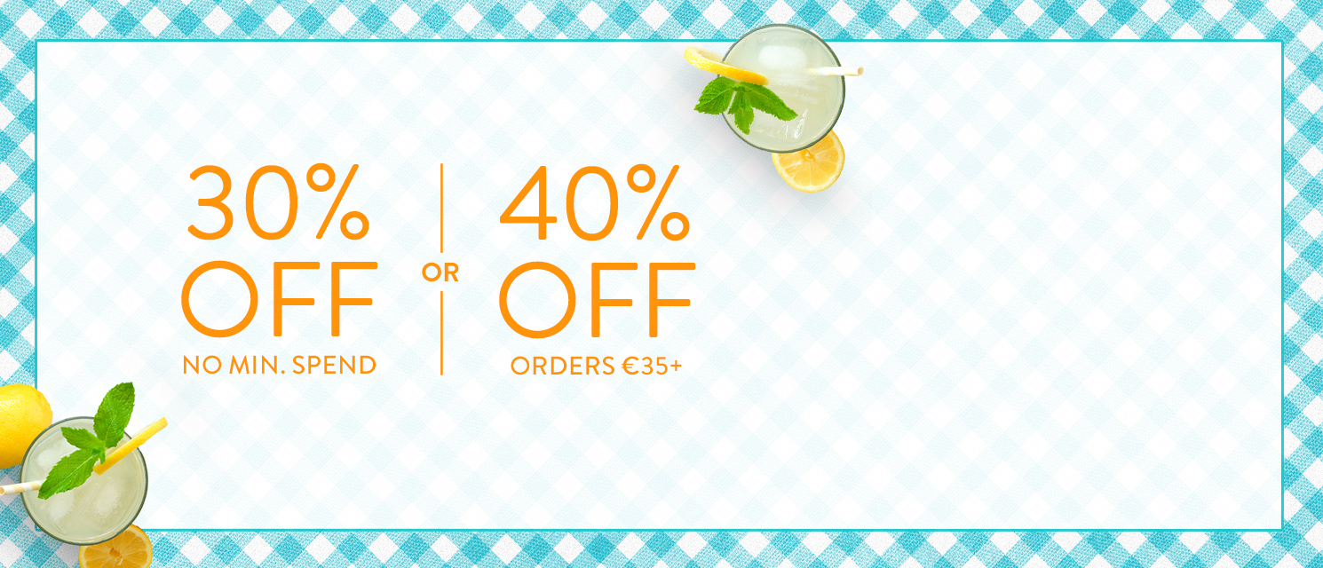 Spend & Save up to 40% : Use Code SUMMER816 by 30th August 2016.