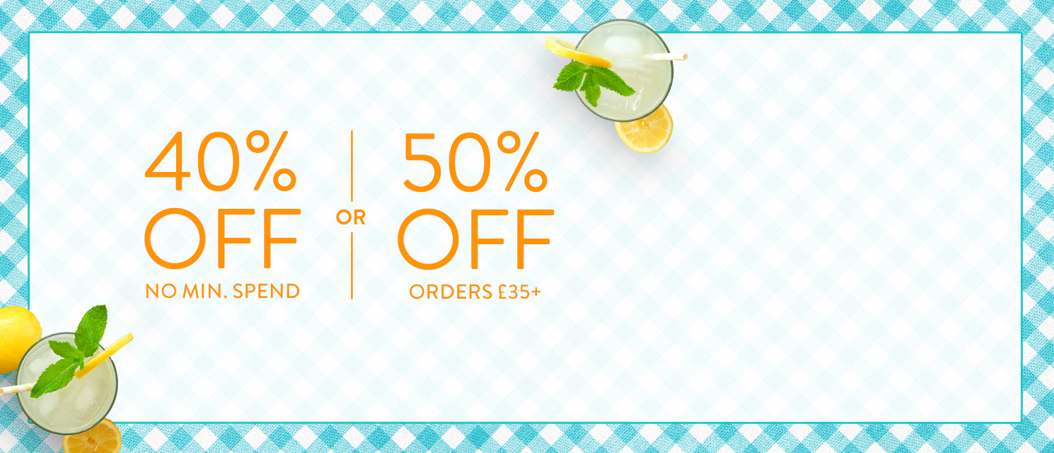 Spend & Save up to 50% : Use code SUMMER816 by 30th August 2016.