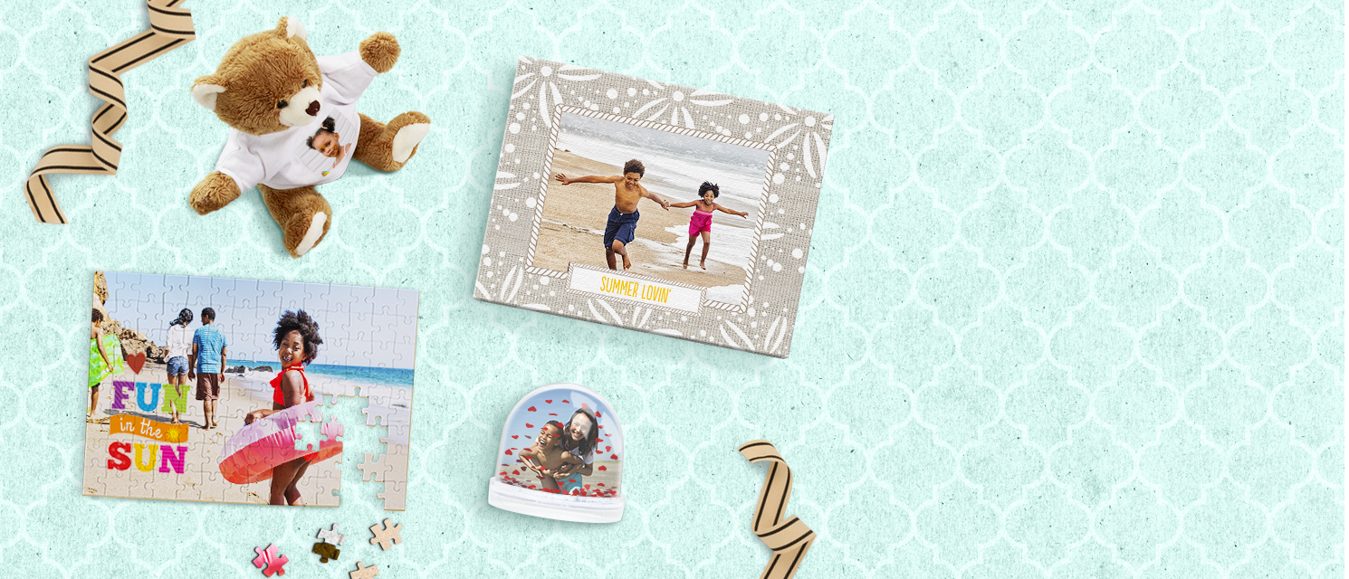 Photo Gifts : Use your favourite photos to create a personalised photo gift for a Summer's day.