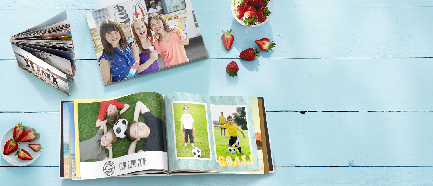 Photo Books, happy moments! : Create a personalised photo book, great for a summer gift.