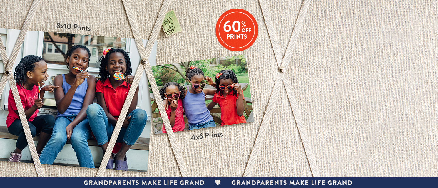 Dress up their bragging board : Save on prints so Gram & Gramps can boast in style. Use AUGPRT16