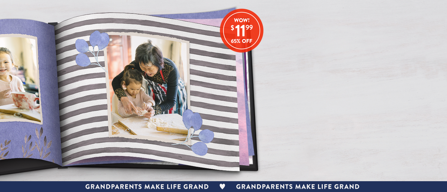 Make something sweet : Create a heartfelt 8x11 Hardcover Book this Grandparents Day. Use 1199BKS