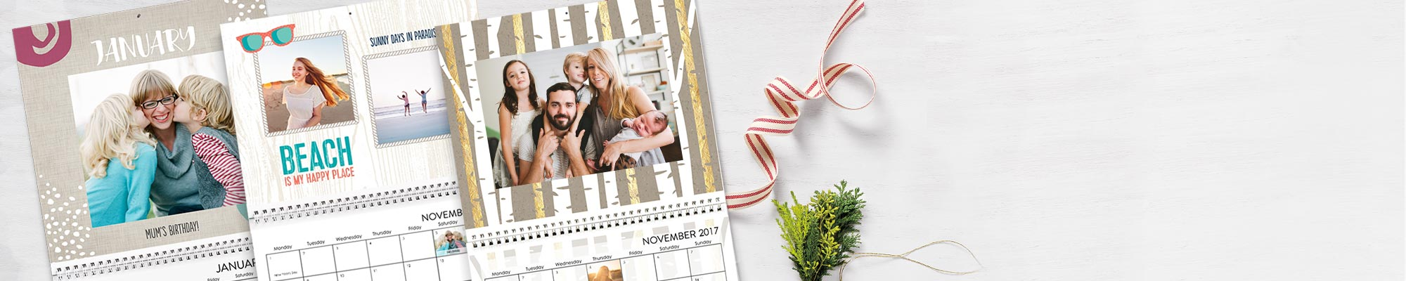 2017 Photo Calendars : Enjoy 365 days of your favorite photos personalised with new fonts, designs and backgrounds.