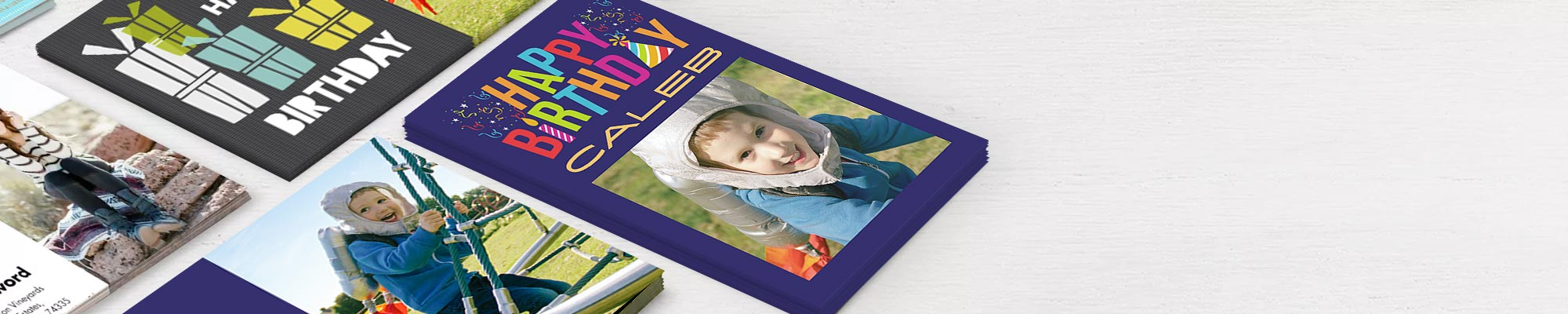 Photo Cards : Birthday, greeting, invitation or thank you,give your cards the personal touch.