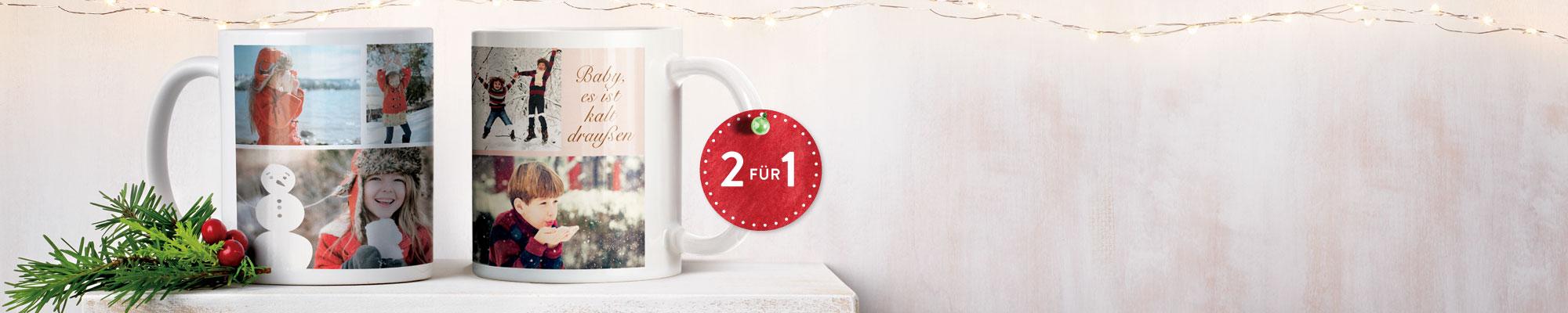 Personalisierte Fotogeschenke : Überraschen Sie mit einzigartigen Geschenken - wie z. Bsp. mit 2 Fototassen zum Preis von einer! Gutscheincode: BEST416