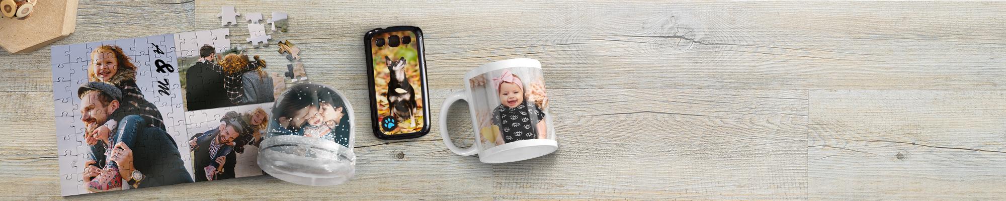 Objets Photo :  Créez un objet unique à partir de vos plus belles photos et offrez le à vos proches
