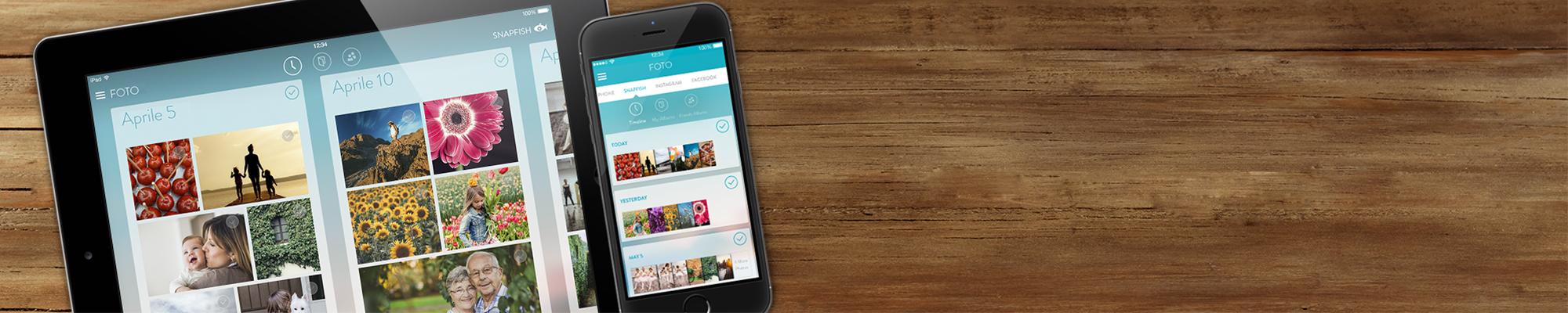 Snapfish App : Carica, guarda e condividi le tue foto ovunque ti trovi!