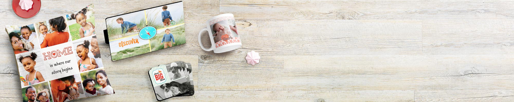 Collage prints Collages are a great way to show the bigger picture, like baby's first year, your family holiday, or even your garden's progress over the summer.