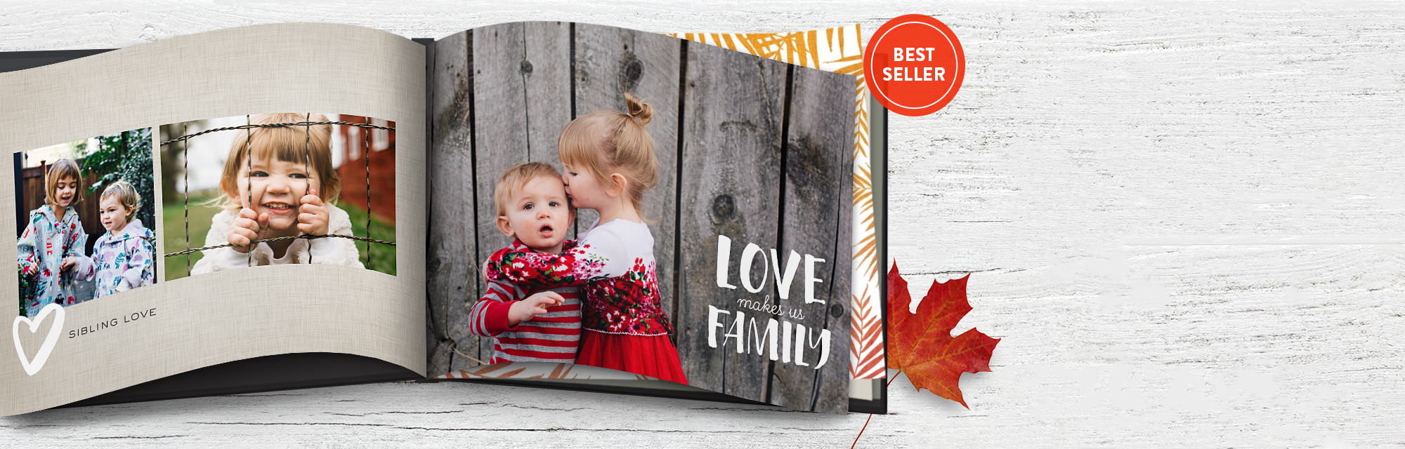 Share life's little blessings : Get inspired to create 8x11 hardcover photo books with our new fall designs.