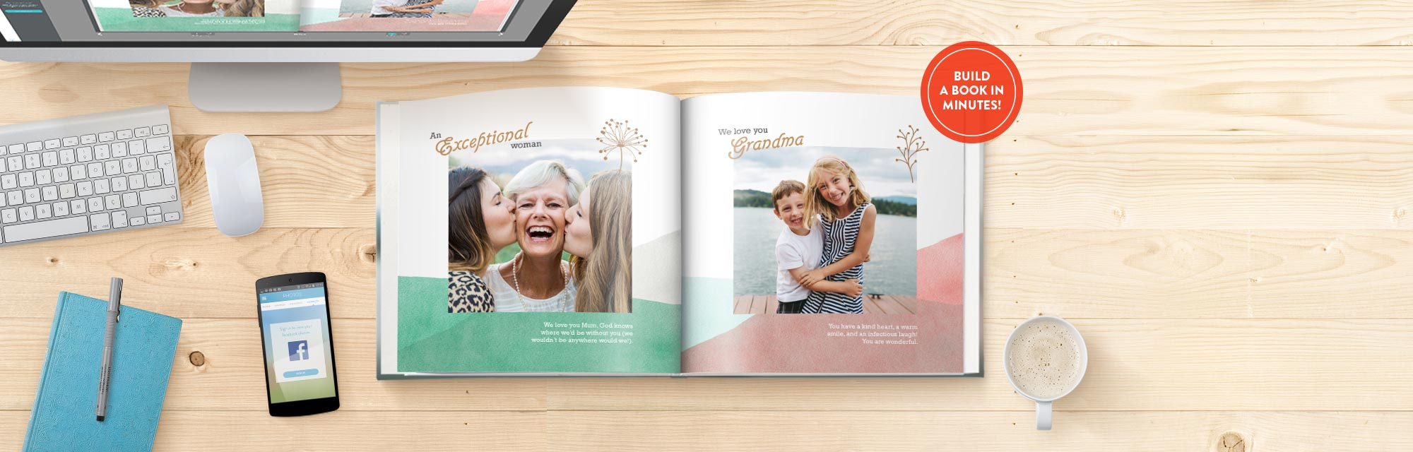 4-Step Book Guide : View our 4-step guide to creating your personalised photo book.