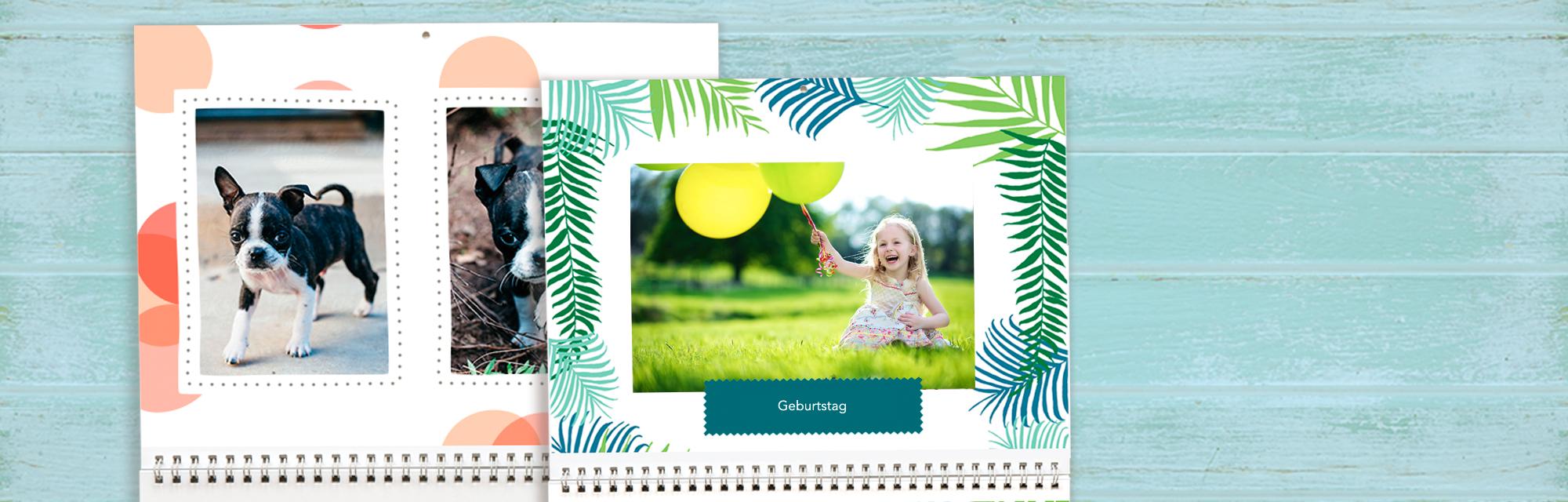 Viele Möglichkeiten :  Mit vielen verschiedenen Designmöglichkeiten verschönern Sie Ihre Fotokalender