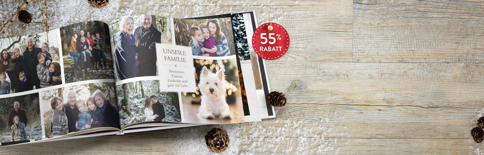 Zauberhaft : Momente des Jahres in einem Fotobuch verewigen - mit Gutscheincode BEST216 auf Fotobücher 20x30 cm & 30x20 cm bis 98 Seiten 55% sparen!