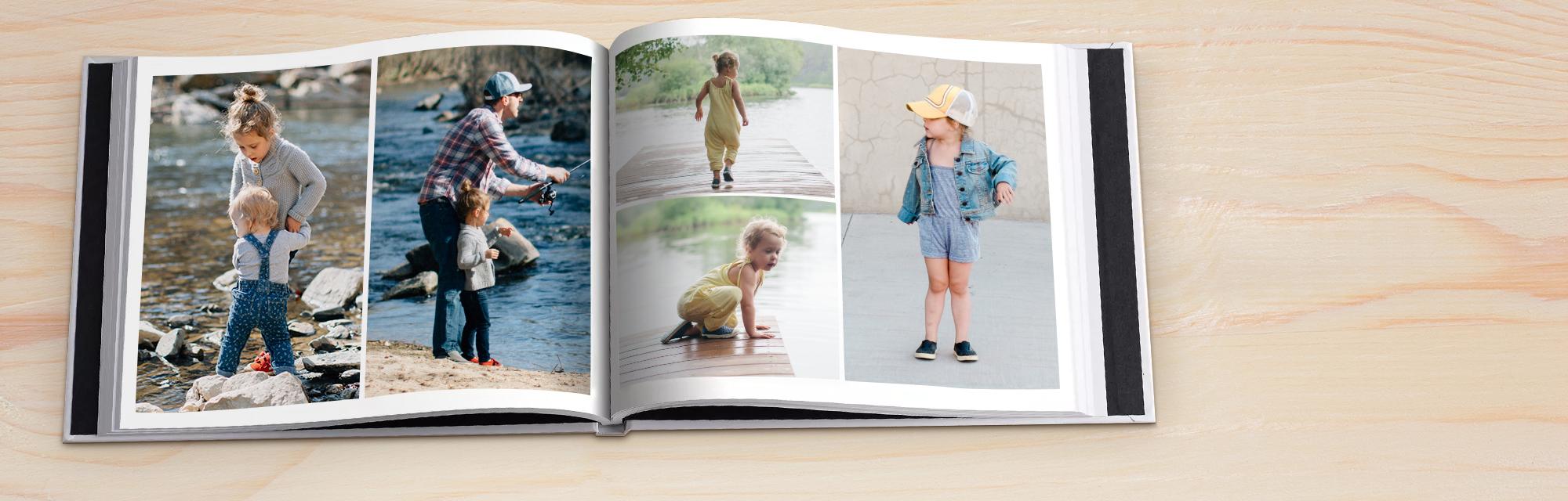 In un solo gesto : Scegli un design e seleziona Riempimento Automatico per aggiungere tutte le tue foto in un solo gesto.