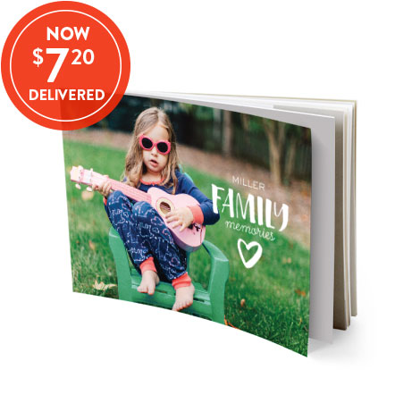 13x18cm Softcover book - $7.20 delivered!